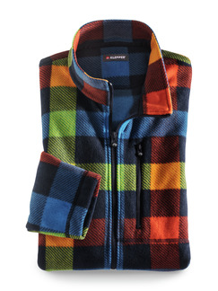 Klepper Karo-Fleecejacke Multicolor Detail 1