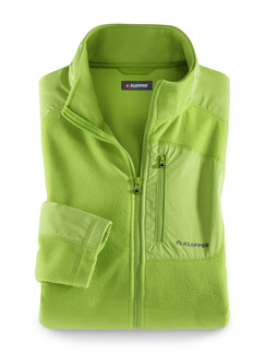 Klepper Microfleece-Jacke Lime Detail 1