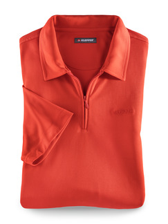 Klepper Dry Touch Polo Orange Detail 1