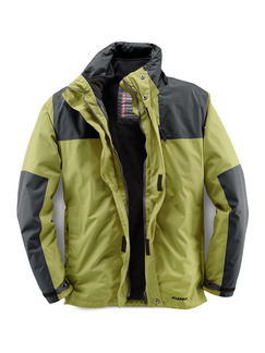 Klepper Aquastop 2-in-1 Jacke Lime Detail 1