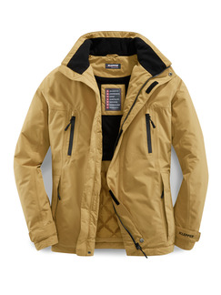 Klepper Thermoleicht-Jacke Aquastop Curry Detail 1