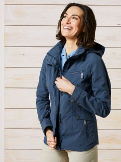Klepper Aquastopjacke Cotton Touch Rauchblau Detail 1