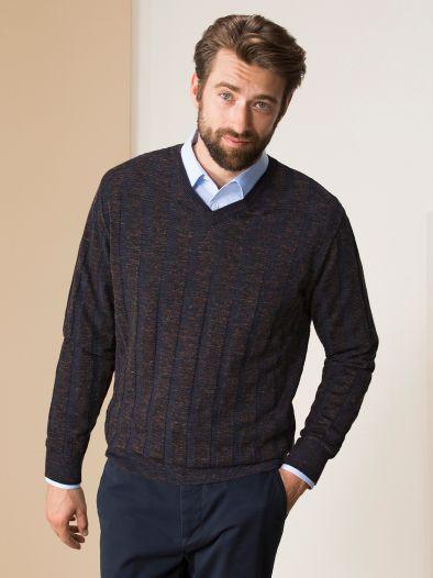 Woll-Leinen Pullover Lorenzoni