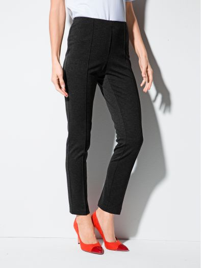 Jersey-Hose Slim Fit
