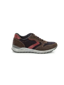 Sneaker Tricolor Grau/Marine/Bordeaux Detail 3
